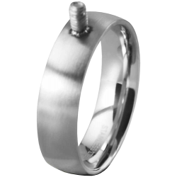 Basic stainless steel ring size 19.5