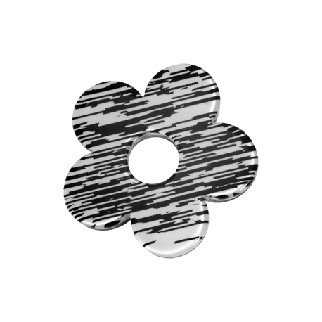 Acrylic Black and White Flower