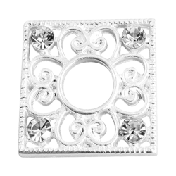Silver square flower