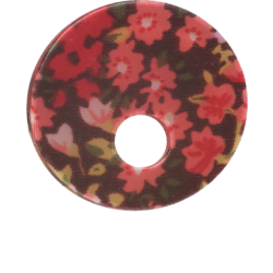 Acryl Asymmetrisch red flower